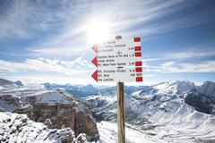 Italian Dolomites winter landscape Stock Photos