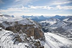 Italian Dolomites winter landscape - stock photo