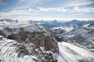 Stock Photo of Italian Dolomites winter landscape