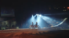 Incredible culmination bike show Stock Footage