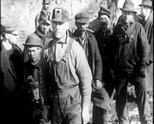 1913 - Dawson Mine Disaster 04 - Helpers 02 Stock Footage