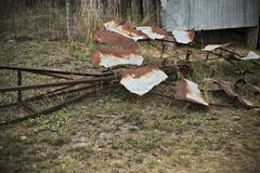 Fallen Windmill - stock photo
