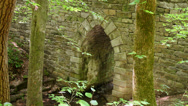 Stock Video Footage of historic archway stone bridge yr 1820