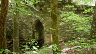 Stock Video Footage of historic stone archway bridge yr 1820