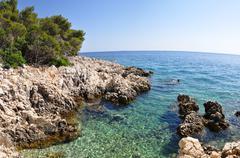 Romantic bay in the Adriatic Sea - stock photo