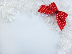 White and Red Christmas Decoration Stock Photos