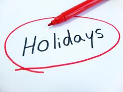 Marked and Written Holidays - stock photo