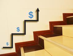 Growth stocks. Stock Photos
