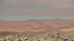 Time-lapse of clouds over the dry Atacama Desert in Chile Stock Footage
