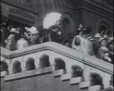 1913 - Easter Sunday St. Mary Cathedral San Francisco Stock Footage