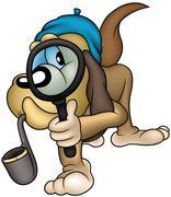 Dog Detective - stock illustration