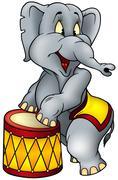 Circus Elephant - stock illustration
