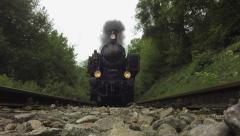 Stock Video Footage of steam engine. historic train. nostalgic transportation. slow motion