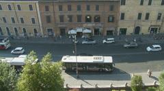 Aerial view of Roman street (slomo) Stock Footage