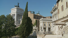 Behind Vittorio Emanuele II monument in Rome (slomo dolly) Stock Footage