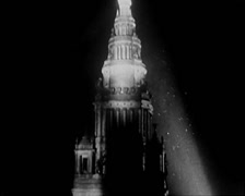 1915 - Panama Pacific International Exposition 08 - Night Shot 01 Stock Footage
