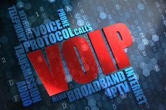 VOIP. Wordcloud Concept. - stock illustration