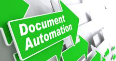 Document Automation. Business Concept. Stock Illustration