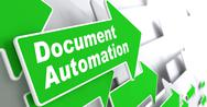 Stock Illustration of Document Automation. Business Concept.