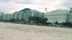 0150-Rio-Soccer-Futbol-Beach-Copacabana-Local-People-World-Cup-Lifestyle Stock Footage