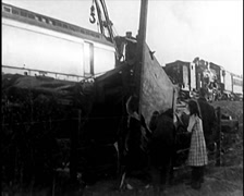 1915 - Train Wreckage 01 Stock Footage