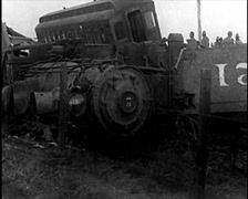 1915 - Train Wreckage 02 Stock Footage