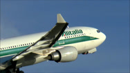 Stock Video Footage of Alitalia climbs