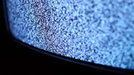 Stock Video Footage of TV Noise Detail