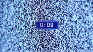 Stock Video Footage of TV Noise Countdown