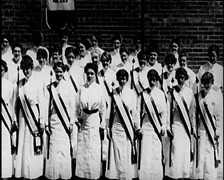 1915 - Womens March 02 Stock Footage
