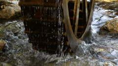 Traditional water mill on fresh pure water Stock Footage