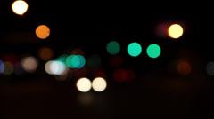 Car Head Lights Bokeh Timelapse Stock Footage