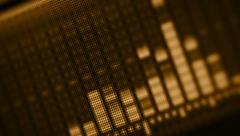 Eq on the lcd screen close-up in golden tones Stock Footage