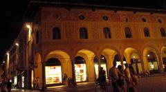 Vigevano place Stock Footage