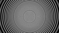 Endlessly rotating hypnotic spiral. look into the center Stock Footage