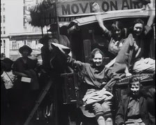 1922 - Girls Leave Recreation Camp 01 Stock Footage