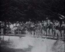 1922 - Public Swimming Pool 01 Stock Footage