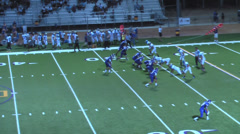 Football Running Back Incredible Run Stock Footage
