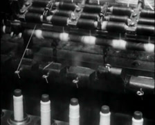 1924 - Cotton Mill 07 Stock Footage