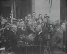 1930 - Swearing-In Governor James Rolph California 03 Stock Footage