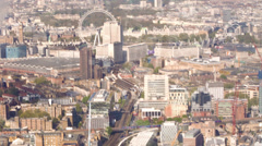 View from Shard - London Eye Stock Footage