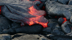 Lava - flowing lava from Kilauea volcano, Hawaii - stock footage