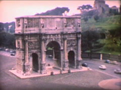 8MM ITALY Roma Arch of Titus - 1964 - stock footage