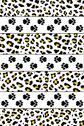 Leopard footprints Stock Illustration