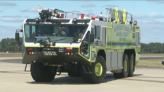 Airport Firefighters Stock Footage