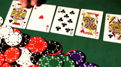 Poker river. Stock Footage