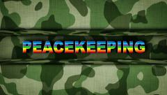 PEACEKEEPING Text in Military Door (2 Versions) - stock footage