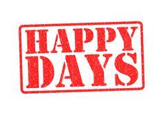HAPPY DAYS - stock illustration