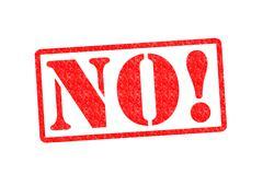 NO! - stock illustration