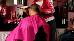 Hairdressing salon Stock Footage